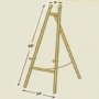 EBS-060 Brass Colored Easel
