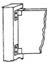 Galvanized Steel U Bracket - 1/2""