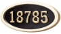 HouseMark – Large Oval Address Plaque (H1-LOBL)