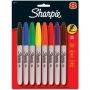 Sharpie Fine Permanent Markers Assorted 8 Pack