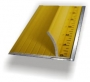 """Ultimate 28"""" Steel Yellow Safety Ruler"""
